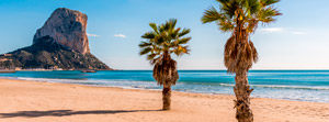 Holiday autumn Costa Blanca beach